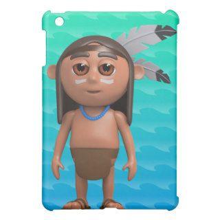 3d Indian Brave stands proud iPad Mini Cases