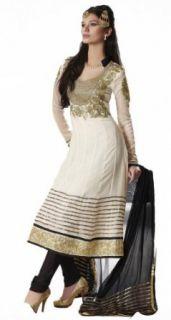 Triveni Pure Georgette,Chiffon Salwar Kameez 415: Clothing