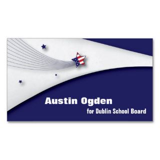 Promotional American Flag Business Card   Red Blue