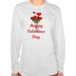 Roses Happy Valentines Day T Shirt