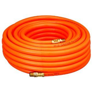 "Amflo 576 50A Orange 300 PSI PVC Air Hose 3/8"" x 50' With 1/4"" MNPT End Fittings Industrial & Scientific"
