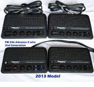Intercom Central� FM246 2nd Generation, 4 Channels, Advance 3 Wires Power line Intercom System, Black, Four Units Set: Home Improvement