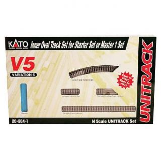 Kato USA Model Train Products V5 UNITRACK Inside Loop Track Set: Toys & Games