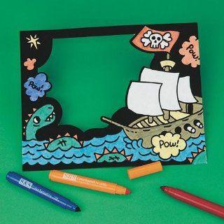 Velvet Pirate Frame Craft Kit (Makes 12): Toys & Games