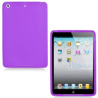 WIRELESS CENTRAL Brand Soft Silicone PURPLE Skin Cover Case for APPLE IPAD MINI [WCD261]: Computers & Accessories