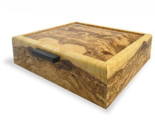Handcrafted Olive Ash Burl Wood Valet Box   Jewelry Boxes