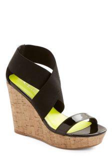 Sleek Steppin' Wedge  Mod Retro Vintage Sandals
