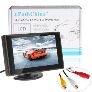 ePathChina� 4.3 Inch Digital TFT LCD Color Display 2 Video Input Car Rear View Monitor Mini DVD VCR Car Monitor With Reversing Camera Support Car DVD VCD STB Satellite Receiver and Other Video Equipment : Vehicle Overhead Video : Car Electronics