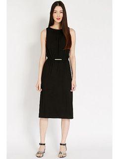 Oasis Grecian midi dress Black