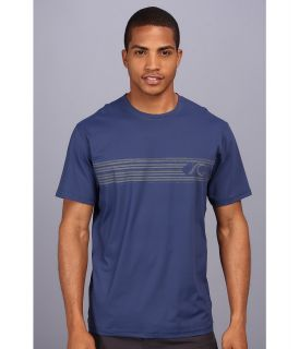 Quiksilver Waterman Off the Wall 2 Rash Guard/Surf Shirt Top Mens Clothing (Navy)