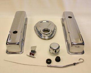SBC CHEVY SMALL BLOCK SMALL BLOCK ENGINE DRESS UP KIT TALL 283 350, CHROME Automotive