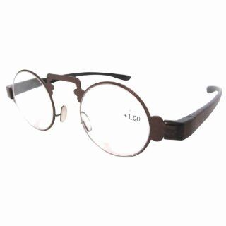 Eyekepper Thin Metal Round Frame Plastic Arms Retro Reading Glasses +1.50 Health & Personal Care