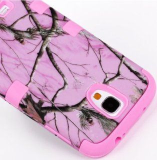 "myLife (TM) Bubblegum Pink   Light Pink Tree Camouflage Design (3 Piece Hybrid) Hard and Soft Case for the Samsung Galaxy S4 ""Fits Models: I9500, I9505, SPH L720, Galaxy S IV, SGH I337, SCH I545, SGH M919, SCH R970 and Galaxy S4 LTE A Touch Phone&quot"