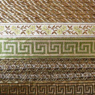 Venus Ribbon CA 0069 Costume Trim Ribbon Assortment, Brown/Green/Gold