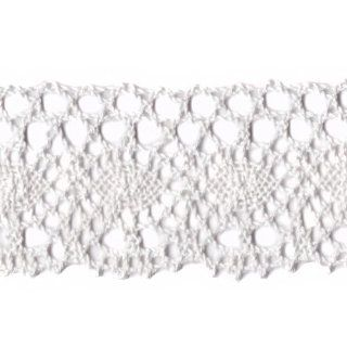 Venus Ribbon 2 Inch Cotton Cluny Lace, White