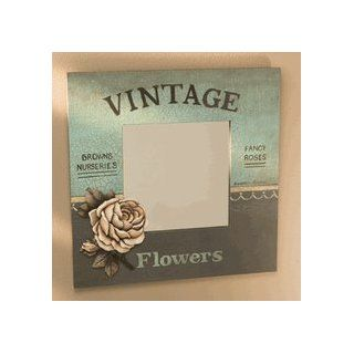 French Country Painted Flower Wall Mirror  Wall Mounted Mirrors