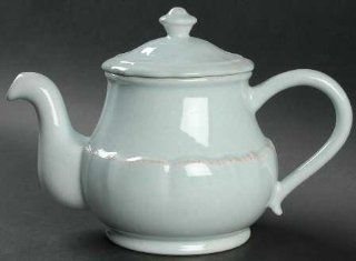 Casafina Impressions Robin'S Egg Blue Teapot & Lid, Fine China Dinnerware: Kitchen & Dining