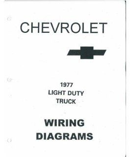 1977 Chevrolet Truck Electrical Wiring Diagrams Schematics Manual Book Factory: Automotive