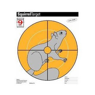 Critter Targets, Squirrel Paper Target, 20 Per Pack  Hunting Targets And Accessories  Sports & Outdoors