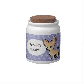 Cartoon Chihuahua (smooth coat) Candy Jars