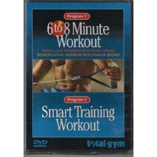 6 to 8 Minute Workout Program 1 & Smart Training Workout Program 2 Total Gym Books
