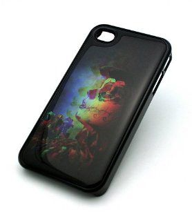 BLACK Snap On Hard Case IPHONE 4 4S Plastic Skin Cover  3D LIKE SUGAR SKULL TATTOOED GIRL day of the dead blurred artistic: Cell Phones & Accessories