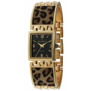 Peugeot Women's Leopard Animal Print Link Watch Peugeot Women's Peugeot Watches