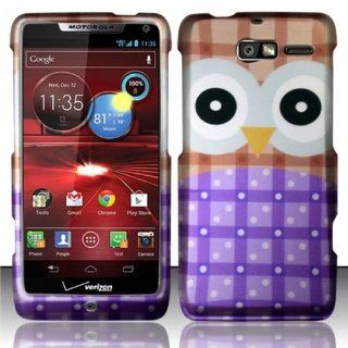 For Motorola Droid RAZR M 4G LTE XT907 Rubberized Hard Design Case Cover   Big Eyes Owl: Cell Phones & Accessories