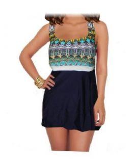 It Figures Slender Thighs Plus Size Sante Fe Swimdress Swimsuit (18W) at  Women�s Clothing store
