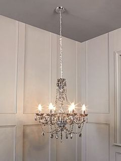 Pied a Terre Roxie 6 arm crystal dropper chandelier