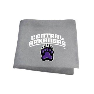 Central Arkansas Grey Sweatshirt Blanket 'Central Arkansas w/Paw' : Sports Fan Throw Blankets : Sports & Outdoors