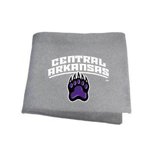 Central Arkansas Grey Sweatshirt Blanket 'Central Arkansas w/Paw' : Sports Fan Throw Blankets : Sports & Outdoors