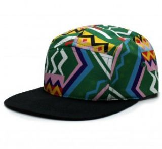 City Hunter Cn340 Fresh Prince 5 Panel Bike Hat (Kelly green/black ): Clothing