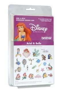 Brother EC347D Ariel and Belle Embroidery Design Card
