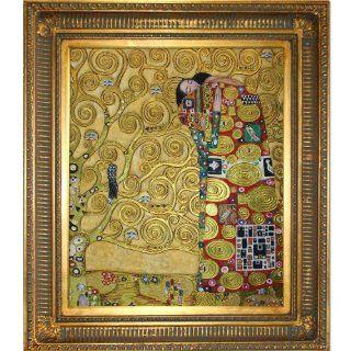 Art KLG454 FR 655G20X24 Fulfillment Framed Oil Reproduction of an Original Painting by Gustav Klimt   Artwork