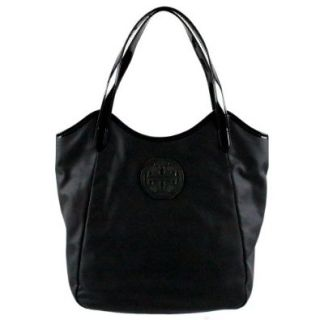 0af04069cc9 ... Tory Burch Dipped Canvas Stacked Logo Tote Black  Shoes ...