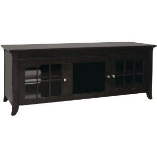 TechCraft CRE60B 60 Inch Wide Flat Panel TV Credenza   Black: Electronics
