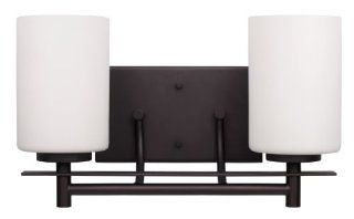 CANARM LTD. IVL363A02ORB Carlton 2 Bulb Vanity Light, Oil Rubbed Bronze   Vanity Lighting Fixtures