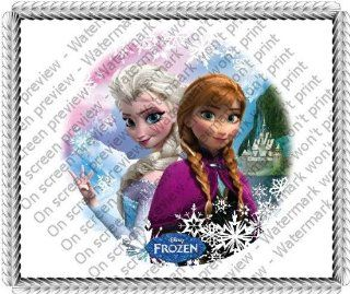1/4 ~ Disney Frozen Sisters Birthday ~ Edible Image Cake/Cupcake Topper!!! : Grocery Gourmet Food Cooking Baking Supplies Icings : Grocery & Gourmet Food