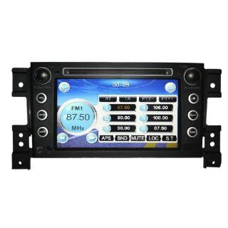 """Koolertron For Suzuki Grand Vitara DVD Navigation Systems with 7"""" Digital HD Touchscreen and iPod SWC (OEM Factory Style, Free Map)  Vehicle Dvd Players"""