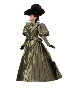 Women's Olive Gold Victorian Era Dress Theater Costume M Clothing