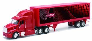 Peterbilt 387 Container 1:32 Diecast Truck Red Tractor Trailer: Toys & Games