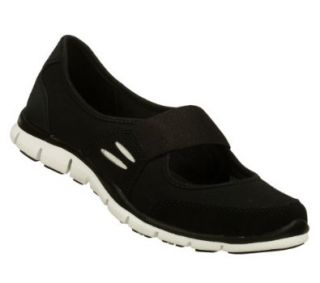 Skechers Gratis Asana Womens Mary Jane Sneakers Wide Width Black/White 11 W: Shoes