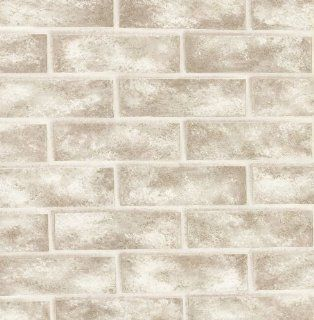 Brewster 412 56947 20.5 Inch by 396 Inch Bricks   Textured Depth Wallpaper, White   White Brick For The Wall