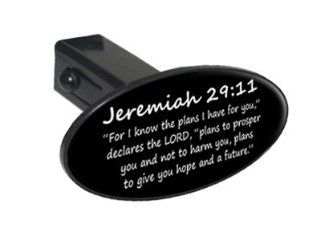 "Jeremiah 29 11   Christian Bible Verse   1 1/4 inch (1.25"") Tow Trailer Hitch Cover Plug Insert Automotive"