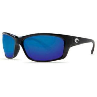 Costa Del Mar Santa Rosa Sunglasses   Black/Coral Frame Dark Gray CR 39 Lens 729745