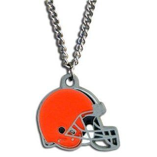 Cleveland Browns Logo Necklace   NFL Football Fan Shop Sports Team Merchandise : Sports & Outdoors