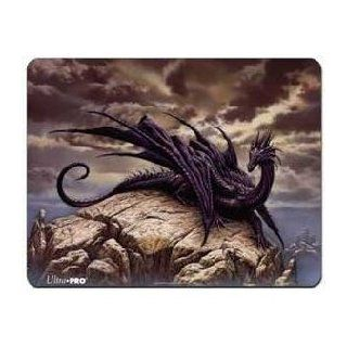 Ultra Pro The Magic the Gathering (MTG) Ciruelos' Dragon Playmat   Limited Edition (Black Play Mat) Sports & Outdoors