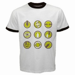 Men's Customized SIGN SYMBOL BUSINESS ABSTRACT 100% Cotton White Ringer T shirt: Clothing