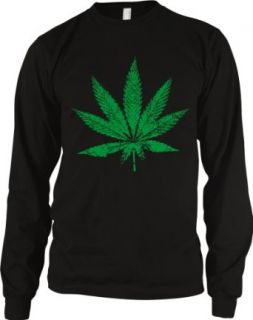 Marijuana Pot Weed Leaf Men's Thermal Shirt: Clothing